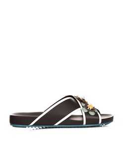 Fendi | Flowerland Leather Slides