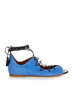 MALONE SOULIERS | Savannah Lace-Up Suede Sandals