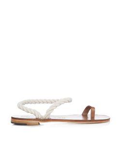 ÁLVARO | Angela Rope And Leather Sandals
