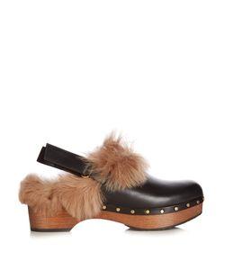 Gucci | Amstel Fur Slingback Clogs