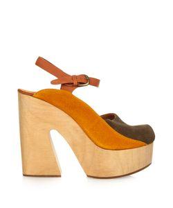 Rachel Comey | Alton Bi-Colour Suede Platform Sandals