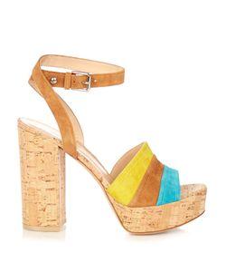 Gianvito Rossi | Block-Heel Suede Platform Sandals