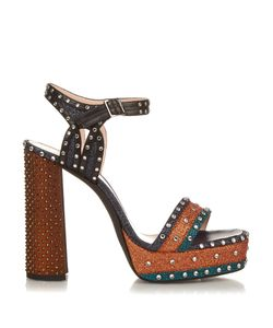 Lanvin | Stud And Glitter-Embellished Platform Sandals