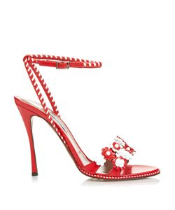 Tabitha Simmons | Lynn Daisy-Embellished Leather Sandals