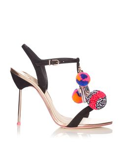 Sophia Webster | Layla Pompom Embellished Leather Sandals