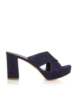 MANSUR GAVRIEL   Platform Suede Crossover Sandals