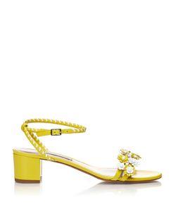 Tabitha Simmons | Folie Daisy-Embellished Leather Sandals