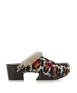 Bottega Veneta | -Print Calf-Hair And Shearling Clog Sandals