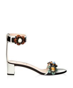 Fendi | Flowerland Leather Sandals