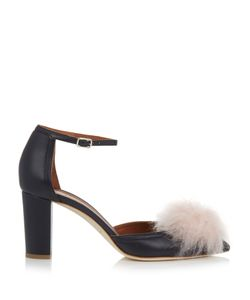 MALONE SOULIERS | Jan Cashmere-Pompom Leather Pumps