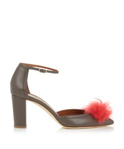 MALONE SOULIERS | Jan Cashmere-Pompom Leather Sandals