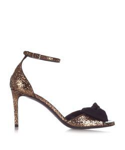 Saint Laurent | Jane Bow-Detail Glitter Sandals