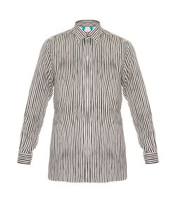 Paul Smith | Point-Collar Striped Cotton-Blend Shirt