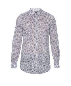 PAUL SMITH LONDON | Leaf-Print Cotton Shirt