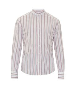 Michael Bastian | Mandarin-Collar Cotton Shirt