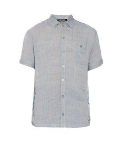 LONGJOURNEY | Camp Contrast-Panel Cotton Shirt
