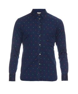 Maison Kitsune | -Embroidered Cotton Shirt