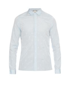 Gucci | Cambridge-Fit Bee And Star-Jacquard Shirt