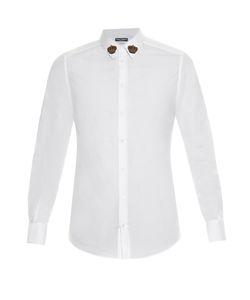 Dolce & Gabbana | -Fit Crown-Embellished Poplin Shirt