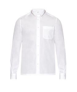 Valentino | Rockstud-Trimmed Cotton-Poplin Shirt