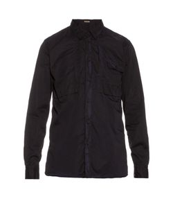 Bottega Veneta | Point-Collar Long-Sleeved Cotton Shirt