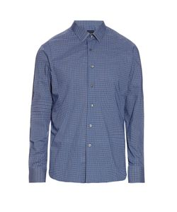 Lanvin | Micro-Checked Cotton-Poplin Shirt