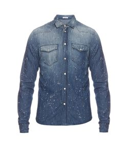 Tomas Maier | Paint-Splash Denim Shirt