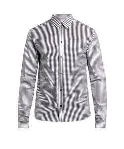 J.W. Anderson | Gingham And Logo-Print Cotton-Poplin Shirt
