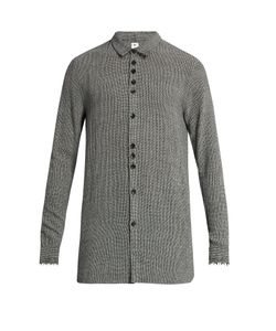 Damir Doma | Saba Frayed-Edge Wool-Blend Shirt