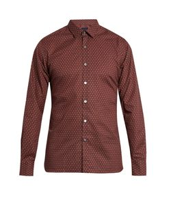 Lanvin | Paisley-Print Slim-Fit Cotton Shirt