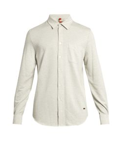 Missoni | Chevron Long-Sleeved Brushed-Cotton Shirt