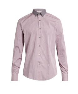 Lanvin | -Striped Cotton-Poplin Shirt