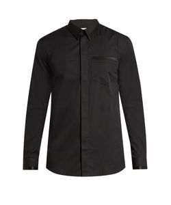 Givenchy | Cuban-Fit Silk Satin-Trimmed Cotton-Poplin Shirt