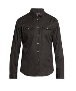 John Varvatos | Pinstriped Cotton Shirt