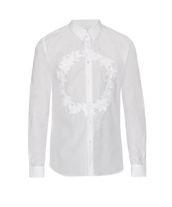 Givenchy | -Crown Embroidered Cotton Shirt