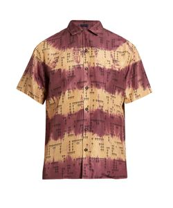 Lanvin | Short-Sleeved Print Silk Shirt