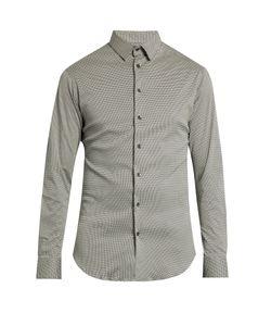 Giorgio Armani | Mini Zigzag-Print Cotton-Jersey Shirt