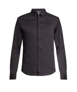 Wooyoungmi | Silk Collar Cotton-Poplin Shirt