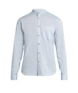 ORLEY | Raw-Edge Granddad-Collar Cotton Shirt