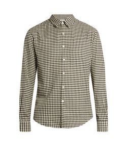 Tomorrowland | Long-Sleeved Gingham Brushed-Cotton Shirt