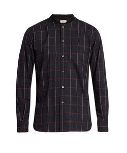 Maison Kitsune | Checked Cotton-Flannel Shirt