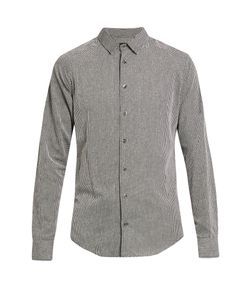 Giorgio Armani | Point-Collar Fil Coupé Cotton Shirt