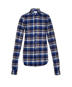VETEMENTS | Checked Cotton-Flannel Shirt