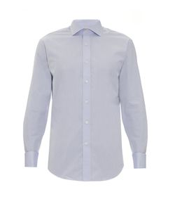 GIEVES & HAWKES | Double-Cuff Cotton-Poplin Shirt