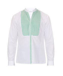 MATHIEU JEROME | Button-Cuff Granddad-Collar Cotton Shirt