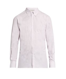 Brunello Cucinelli | Striped Button-Down Collar Cotton-Poplin Shirt