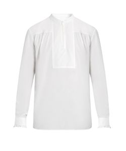 Maison Margiela | Zip-Front Cotton-Batiste Shirt