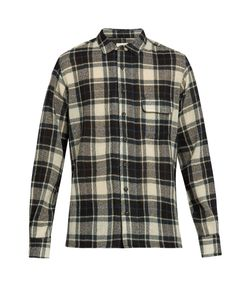 SIMON MILLER | Bexar Point-Collar Plaid Wool Shirt