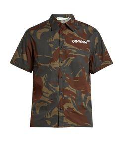 OFF-WHITE | Short-Sleeved Uflage-Print Poplin Shirt