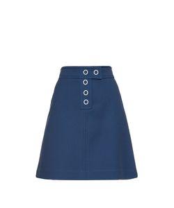 TRADEMARK   Snap Stretch-Twill Mini Skirt